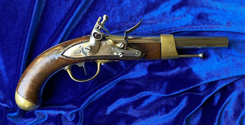 An Exceptional Antique French AN XIII Flintlock Pistol CHARLEVILLE