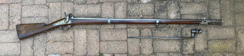 CIVIL WAR PERIOD Antique French Military Model 1842 Percussion Rifle Musket with Bayonet