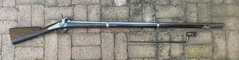 CIVIL WAR PERIOD Antique French Military Model 1840 Percussion Rifle Musket with Bayonet