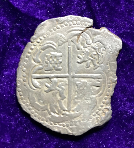 A Fine New World Spanish Silver 8 REALES COB, POTOSI, T Assayer