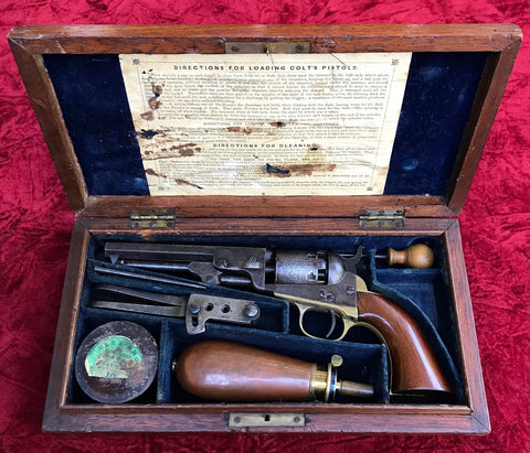 Late CIVIL WAR Period ENGLISH CASED COLT Model 1849 Pocket Percussion Revolver