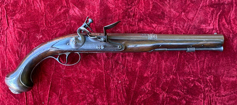An Antique English Flintlock Pistol by GRIFFIN with Spanish Barrel