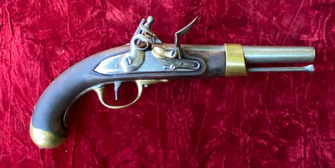 Antique French AN XIII Flintlock Pistol St. Etienne, Dated 1807