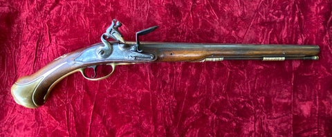 An Impressive Massive French Flintlock Holster Pistol by HENRI LIEBAU, A. SUDAN