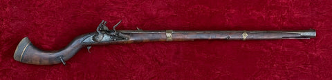 "An antique Middle Eastern/Ottoman Empire flintlock ""Jazail"" carbine."