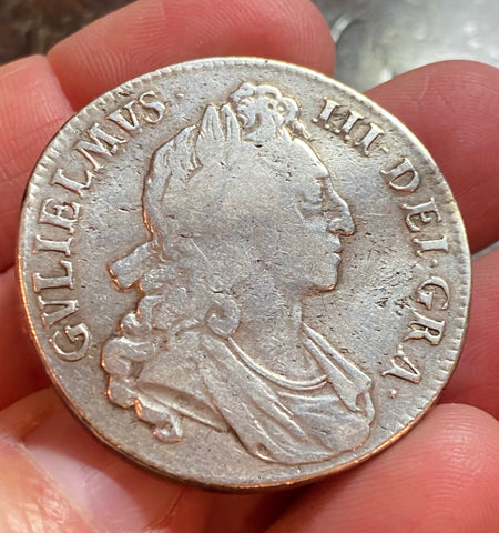 Authentic Silver Crown, Great Britain, William III, Dated 1695