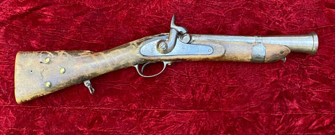 Civil War Period European Percussion Musket, Dated 1860 Period Modified into a Blunderbuss