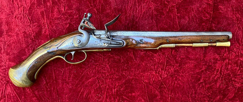 A Rare French & Indian War - American Revolutionary War Period British Military Pattern 1738 Heavy Dragoon Flintlock Pistol, TOWER, 1738