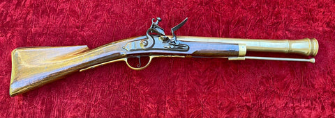A Very Interesting Antique American/Prussian/English Brass Barrel Flintlock Blunderbuss