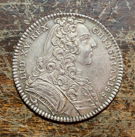 A Fantastic French King Louis XV Silver Jeton Dated 1738