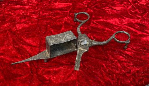 An Antique Colonial Period Iron Candle Snuffer