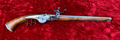 A Wonderful Antique European 17th Century Wheel-lock Pistol of the English Civil War Period and used by the Early European Settlers in the American Colonies