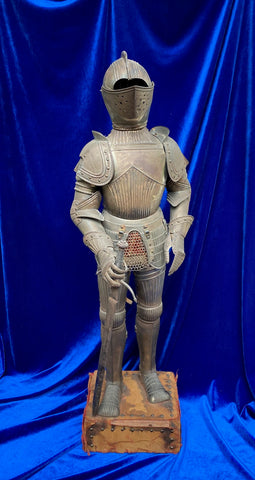 An Excellent Antique Victorian Period Miniature Suit of European Maximilian Style Fluted Armor in the style of the 16th century