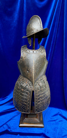 An Excellent Antique Victorian Period Miniature Suit of European Pikeman's Armor in the style of the 17th century