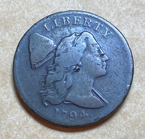 A Rare 1794 U.S. FLOWING HAIR LIBERTY CAP LARGE CENT