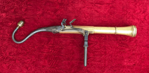 Large Brass Barrel Flintlock Ship's Swivel Blunderbuss (Espingole)