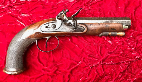 A Good English Flintlock Belt Pistol by Mayes