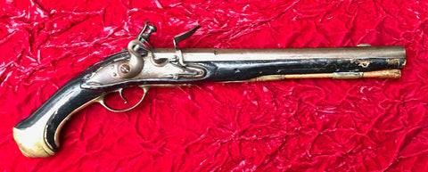 A Rare Early Danish Heavy Dragoon Flintlock Pistol
