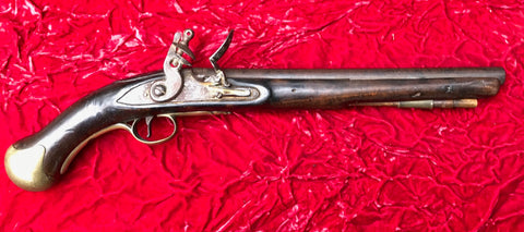British Military Royal Navy Flintlock Long Sea Service Pistol, KING GEORGE III, TOWER