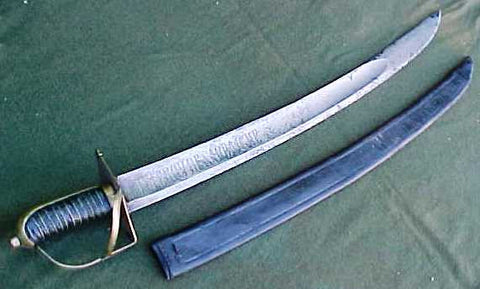 A Wonderful 18th Century Italian Model 1751 Naval Cutlass Sword