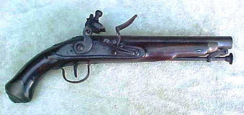 British Military Light Dragoon Flintlock Service Pistol of the War of 1812 and Napoleonic War Period