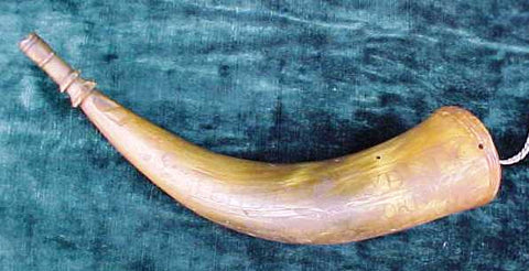 A Very Rare American Colonial French & Indian War Powder Horn Dated 1759