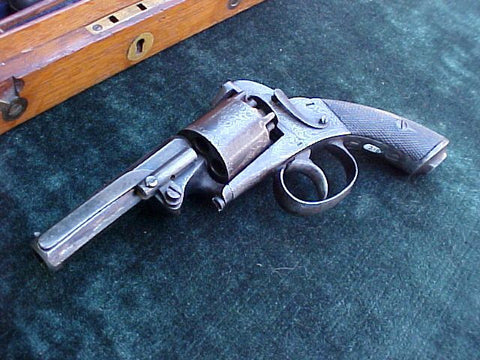 English Baby Bently Percussion Revolver, Cased w/Accessories, #2436  Firearms - Tortuga Trading
