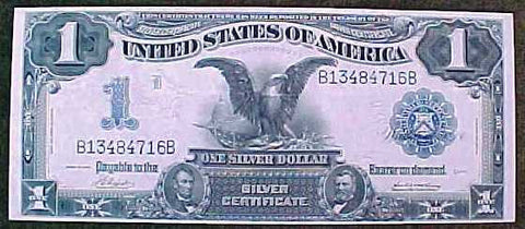 Rare United States 1 Dollar Black Eagle Large Note SILVER CERTIFICATE, Series 1899