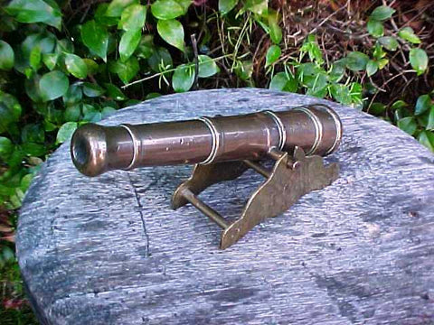 A Good Small English Bronze Signal Cannon