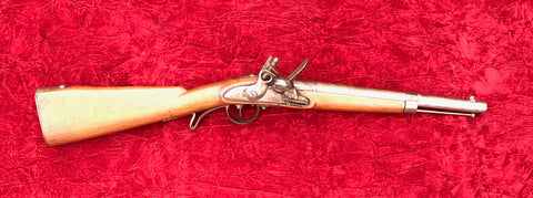A very nice Austrian Military Model 1840 Flintlock Carbine in its original Flintlock configuration.  Many of these were imported by the south for the Civil War.