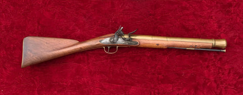 A really good American Colonial captured American Revolutionary War period British Military Brass Barrel Flintlock Blunderbuss, circa. 1740-1760