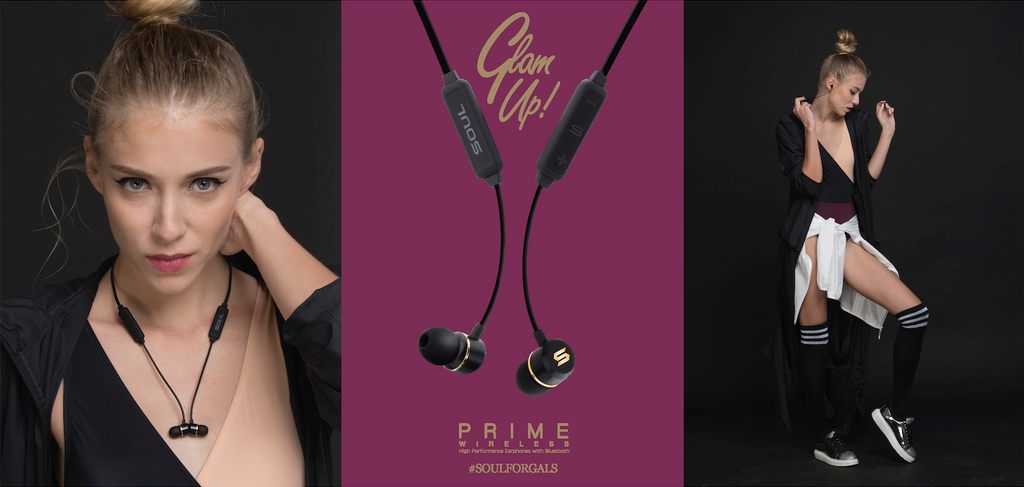 August 2017 - Soul Electronics PRIME WIRELESS stylish bluetooth earphone released