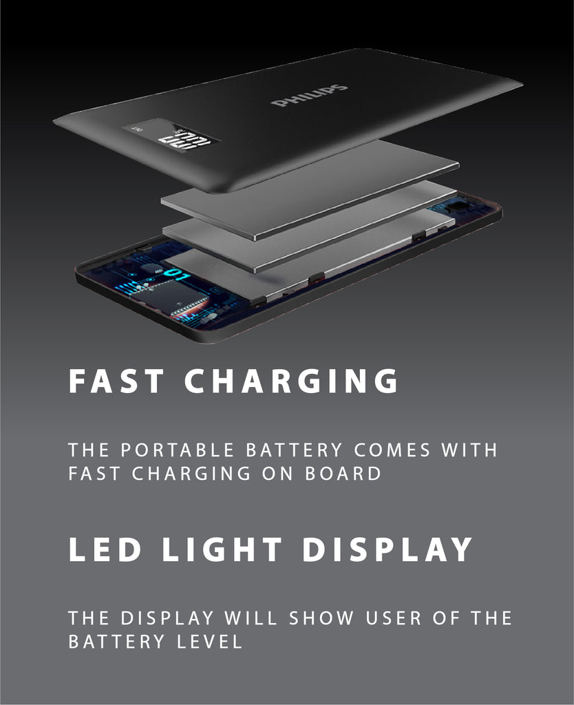 Philips Powerbank 10000mah Li Polymer 2 Usb Max 21a With Led Pin Leds In Parallel On Pinterest Share Facebook Tweet Twitter It