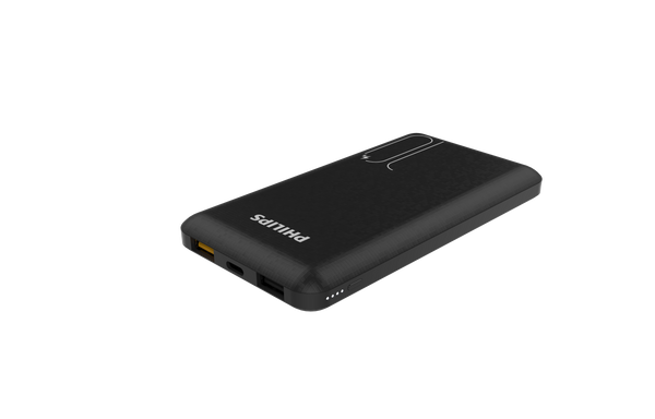 Philips PB DLP7715C 10,000mAh Li-Polymer, Type C with PD 3A + 1 USB QC3.0 + USB 2.1A