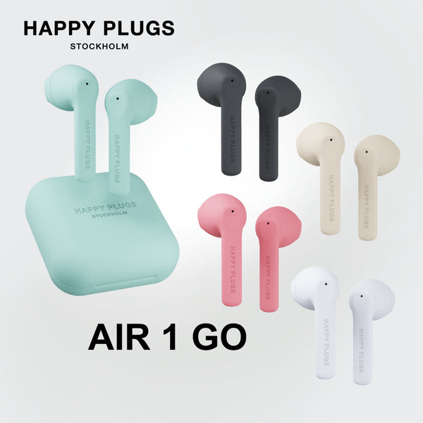 Happy Plugs Air 1 Go True Wireless Headphones Bluetooth 5.0