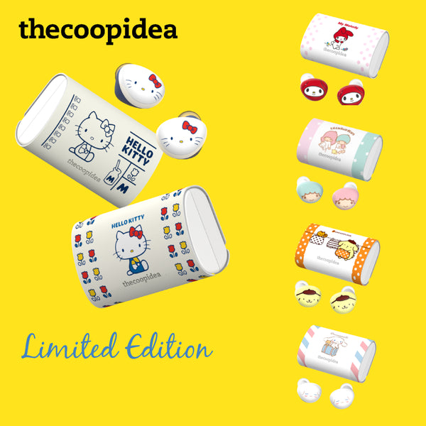 thecoopidea x Sanrio Hello Kitty My Melody Little Twin Stars BEANS+ True Wireless Earphone Limited Edition