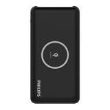 Philips Powerbank 10,000mAh Li-Polymer, Qi Wireless + 2 USB (max 2.4A) - Black