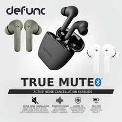 Defunc True Mute Active Noise Cancellation True Wireless Earphones Transparency mode Dual microphones Up to 30 hour playtime