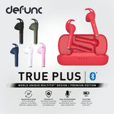 Defunc True Plus dual microphones MultiTip design true wireless earphones designed for video conference active lifestyle