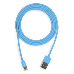 ahha DONUTSTRING Sync & Charge Lightning Cable 1.2M - Turbo Blue