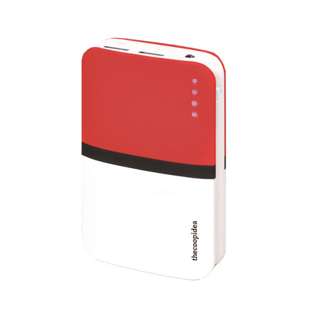 thecoopidea Gummy GO 9000mAh 2.4A - White / Red