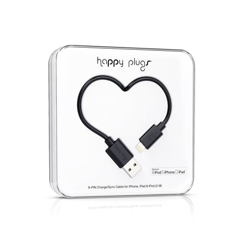 Happy Plugs Lightning to USB Charge/Sync Cable (2.0m) MFI Certified