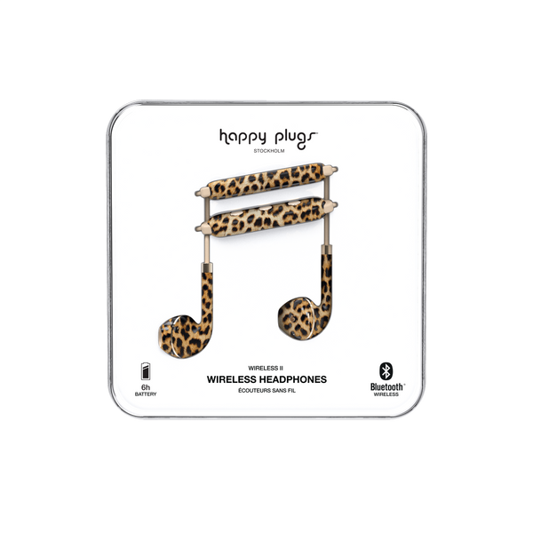 Happy Plugs Earbud Plus Wireless II - Leopard