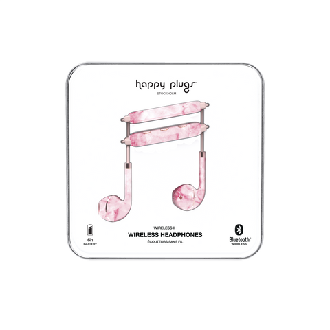 Happy Plugs Earbud Plus Wireless II  - Pink Marble
