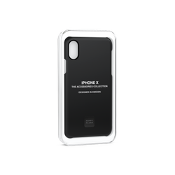 "Happy Plugs Soft Touch Case for iPhone X (5.8"") - Black"