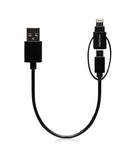 Monocozzi Duoplug | Micro USB Cable with Lightning Connector with Mfi (20cm)