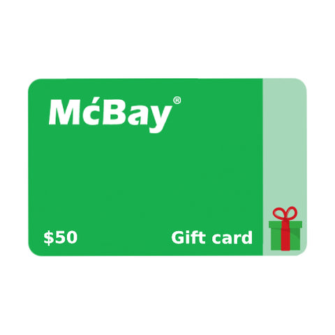 McBay Gift Card for your loved ones and friends