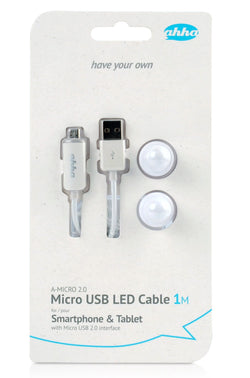 ahha Micro USB LED Cable-IM A-MICRO 2.0 - Sugar White