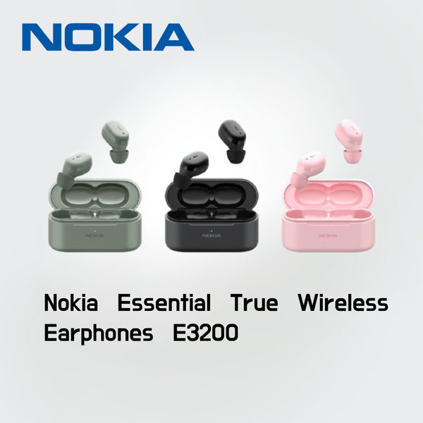 Nokia Essential True Wireless Earphones E3200 Ambient Mode Bluetooth 5.0 up to 17 hours battery life IPX Level 5