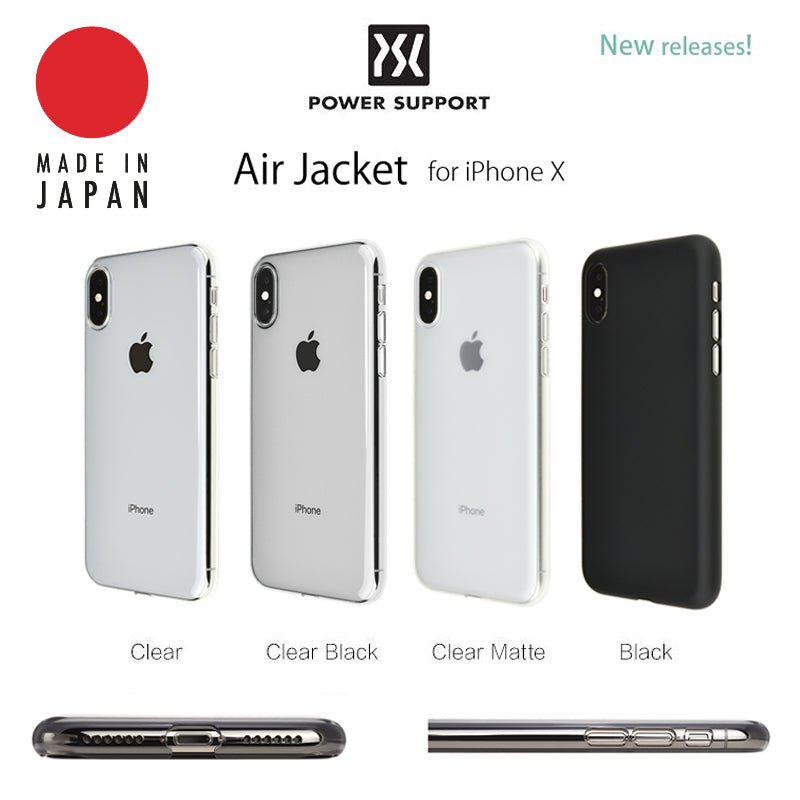 Power Support Air Jacket for iPhone X Made in Japan Slim